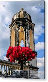 Temple Tower Acrylic Print by Adrian Evans