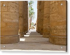 Acrylic Print featuring the photograph Temple Of Karnak by Silvia Bruno