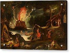 Temptation Of Saint Anthony Acrylic Print