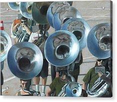 Ten Tubas Acrylic Print by David Clemons