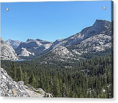 Tenaya Lake And Surrounding Mountains Yosemite National Park Acrylic Print