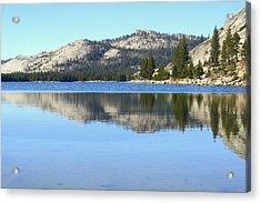 Acrylic Print featuring the photograph Tenaya Lake Reflections by Lynn Bawden