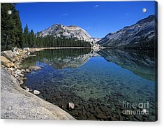 Tenaya Lake Acrylic Print by Stan and Anne Foster