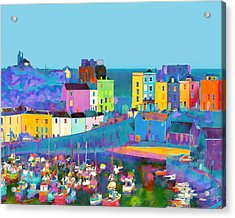 Tenby Harbour  I Acrylic Print by Gareth Davies