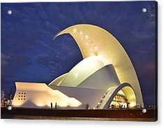 Tenerife Auditorium At Night Acrylic Print