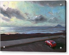 Acrylic Print featuring the painting Tenerife Sea And Sky by Lesley Spanos