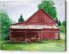 Tennessee Barn Acrylic Print by Suzanne Krueger