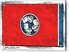 Tennessee Bathroom Flag Acrylic Print