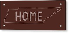 Acrylic Print featuring the digital art Tennessee Home by Heather Applegate
