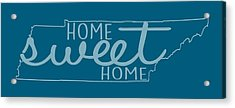 Acrylic Print featuring the digital art Tennessee Home Sweet Home by Heather Applegate