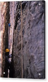 Tennessee Rappelling - 1 Acrylic Print by Randy Muir