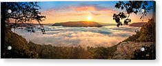 Tennessee River Gorge Morning Fog Acrylic Print