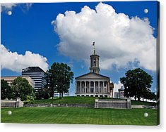 Tennessee State Capitol Nashville Acrylic Print by Susanne Van Hulst