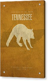 Tennessee State Facts Minimalist Movie Poster Art Acrylic Print by Design Turnpike