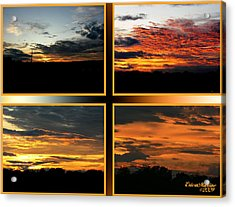 Acrylic Print featuring the photograph Tennessee Sunset by EricaMaxine  Price