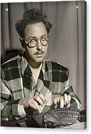 Tennessee Williams At His Typewriter Acrylic Print