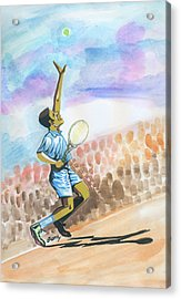 Tennis 02 Acrylic Print by Emmanuel Baliyanga