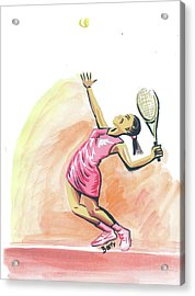 Tennis 03 Acrylic Print by Emmanuel Baliyanga
