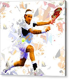 Acrylic Print featuring the painting Tennis 114 by Movie Poster Prints