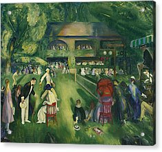 Tennis At Newport Acrylic Print by George Bellows