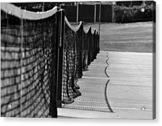 Tennis Courts Acrylic Print by Tracy Smith