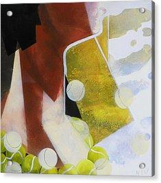 Tennis Fan Acrylic Print by Evguenia Men