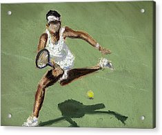 Tennis In The Sun Acrylic Print by Paul Mitchell