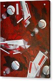 tennis on Mars Acrylic Print by Evguenia Men