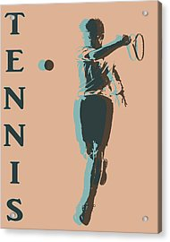 Tennis Player Pop Art Poster Acrylic Print by Dan Sproul