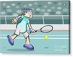 Tennis Player Rejecting The Ball Acrylic Print