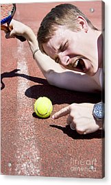 Tennis Player Tantrum Acrylic Print