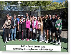Acrylic Print featuring the photograph Tennis Potluck Group Shot by Dan McManus