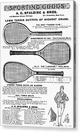 Tennis Rackets, 1887 Acrylic Print by Granger