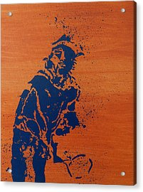 Tennis Splatter Acrylic Print by Ken Pursley