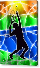 Tennis Acrylic Print by Stephen Younts
