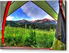 Tent View Acrylic Print