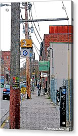 Tenth And Union Acrylic Print by Tobeimean Peter