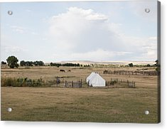 Acrylic Print featuring the photograph Tents At Fort Laramie National Historic Site In Goshen County by Carol M Highsmith