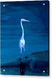 Tenuous Footing Acrylic Print by Haldy Gifford