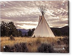 Acrylic Print featuring the photograph Tepee by The Forests Edge Photography - Diane Sandoval