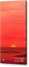 Tequila Sunrise Acrylic Print by Lori Jacobus-Crawford