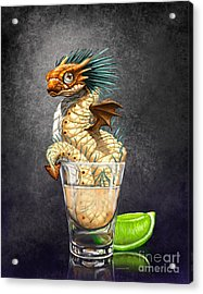 Acrylic Print featuring the digital art Tequila Wyrm by Stanley Morrison