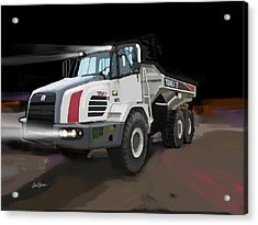 Terex Ta27 Articulated Dump Truck Acrylic Print by Brad Burns