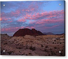Acrylic Print featuring the painting Terlingua Sunset by Dennis Ciscel