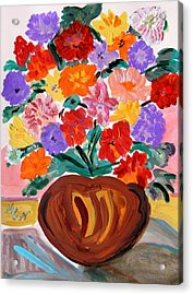 Terra Cotta And Mixed Bouquet Acrylic Print