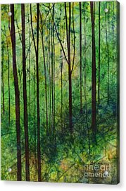Acrylic Print featuring the painting Terra Verde by Hailey E Herrera