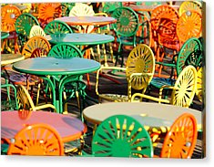 Terrace At The Memorial Union Acrylic Print by Todd Klassy