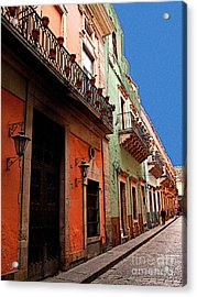 Terracotta And Mint Acrylic Print by Mexicolors Art Photography