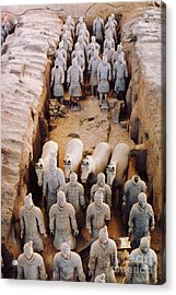 Acrylic Print featuring the photograph Terracotta Army by Heiko Koehrer-Wagner