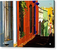 Terracotta House On The Hill Acrylic Print by Mexicolors Art Photography